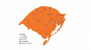 Mapa preliminar do Distanciamento Controlado tem, pela primeira vez, todas as regiões em laranja