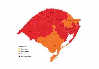 Região de Rio Grande tem bandeira laranja no mapa preliminar do RS