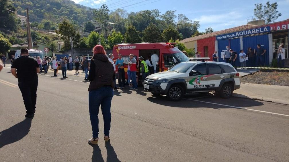 Sobe para cinco o número de vítimas de atentado em escola de Santa Catarina