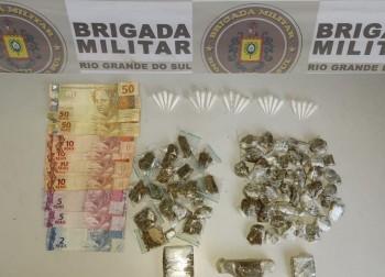Brigada Militar apreende adolescente por tráfico de drogas no bairro São Miguel