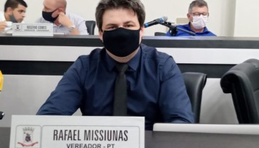 Câmara aceita denúncia de quebra de decoro parlamentar do vereador Rafael Missiunas (PT)